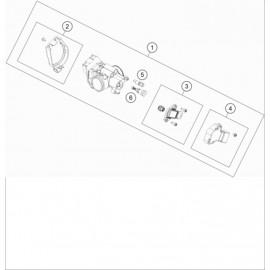 Papillon, corps d'injection ( KTM 250 EXC-TPI 2020 )