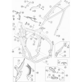 Cadre ( KTM 250 EXC-TPI-Six-Days 2020 )