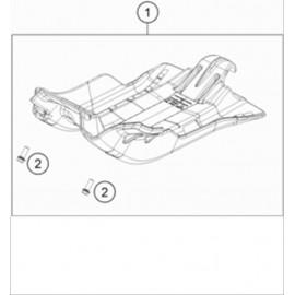 Protection moteur, sabot ( KTM 250 EXC-TPI-Six-Days 2020 )