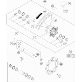 Roue avant ( KTM 250 EXC-TPI-Six-Days 2020 )