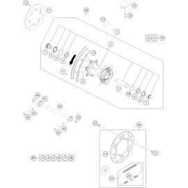 Roue arrière ( KTM 250 EXC-TPI-Six-Days 2020 )