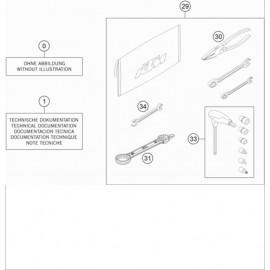Kit accessoire ( KTM 250 EXC-TPI-Six-Days 2020 )