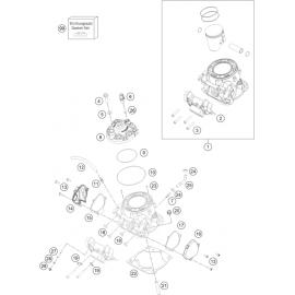Cylindre, culasse ( KTM 250 EXC-TPI-Six-Days 2020 )