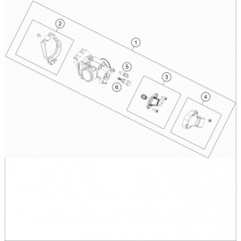 Papillon, corps d'injection ( KTM 250 EXC-TPI-Six-Days 2020 )