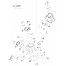 Cylindre, culasse ( KTM 300 EXC-TPI-Six-Days 2020 )