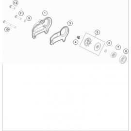 Pompe à eau ( KTM 300 EXC-TPI-Six-Days 2020 )