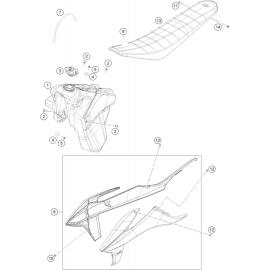 Réservoir, Selle, Cache réservoir ( KTM 250 EXC-F 2020 )