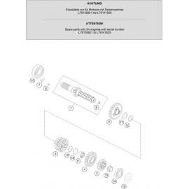 Transmission, arbre primaire ( KTM 250 EXC-F 2020 )