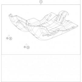 Protection moteur, sabot ( KTM 250 EXC-F-Six-Days 2020 )