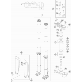 Fourche avant, Té de fourche ( KTM 350 EXC-F 2020 )