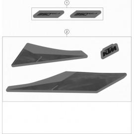 Décos, adhésif ( KTM 350 EXC-F 2020 )