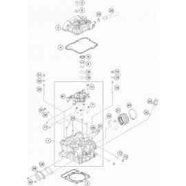 Culasse ( KTM 350 EXC-F-Six-Days 2020 )