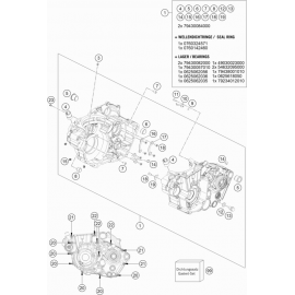 Carter moteur ( KTM 450 EXC-F 2020 )