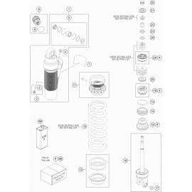 Amortisseur arrière éclaté ( KTM 450 EXC-F-Six-Days 2020 )