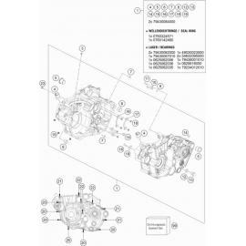 Carter moteur ( KTM 450 EXC-F-Six-Days 2020 )