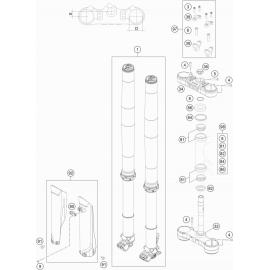 Fourche avant, Té de fourche ( KTM 500 EXC-F 2020 )