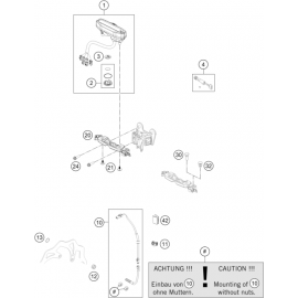 Instrumentation, blocage colonne ( KTM 500 EXC-F 2020 )
