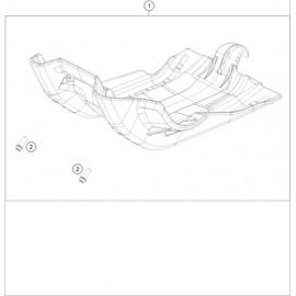Protection moteur, sabot ( KTM 500 EXC-F-Six-Days 2020 )