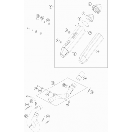 Echappement ( KTM 500 EXC-F-Six-Days 2020 )