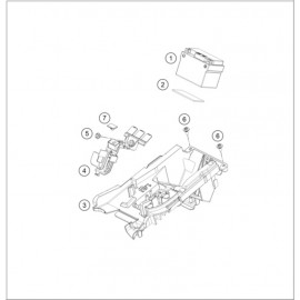 BATTERIE ( KTM 500 EXC-F-Six-Days 2020 )