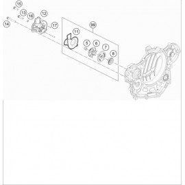 Pompe à eau ( KTM 500 EXC-F-Six-Days 2020 )