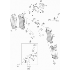Refroidissement ( KTM 500 EXC-F-Six-Days 2020 )