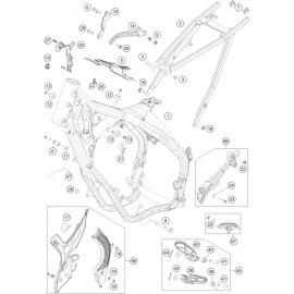 Cadre ( KTM 150 EXC-TPI 2021 )