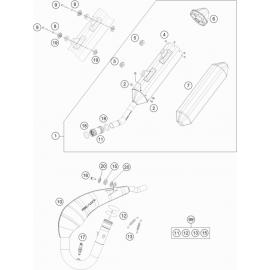 Echappement ( KTM 150 EXC-TPI 2021 )