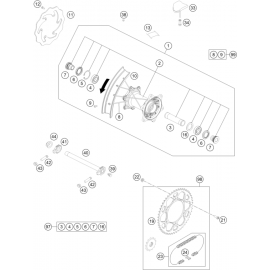 Roue arrière ( KTM 150 EXC-TPI 2021 )