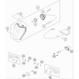 Eclairage ( KTM 150 EXC-TPI 2021 )