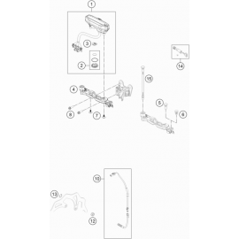 Instrumentation, blocage colonne ( KTM 150 EXC-TPI 2021 )