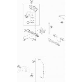 Instrumentation, blocage colonne ( KTM 250 EXC-TPI 2021 )