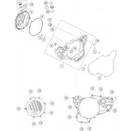 Carter d'embrayage ( KTM 250 EXC-TPI 2021 )