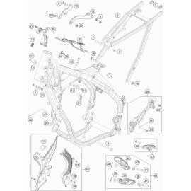 Cadre ( KTM 250 EXC-TPI-Six-Days 2021 )