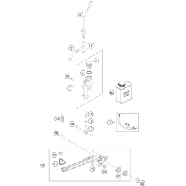Commande de frein arrière ( KTM 250 EXC-TPI-Six-Days 2021 )
