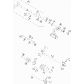 Mécanisme Chgt vitesse ( KTM 300 EXC-TPI-Erzbergrodeo 2021 )