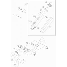 Echappement ( KTM 250 EXC-F-Six-Days 2021 )