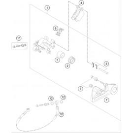 Etrier de frein arrière ( KTM 250 EXC-F-Six-Days 2021 )