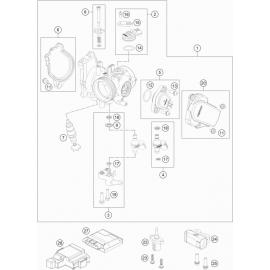 Papillon, corps d'injection ( KTM 250 EXC-F-Six-Days 2021 )