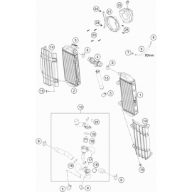 Refroidissement ( KTM 350 EXC-F 2021 )