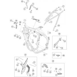 Cadre ( KTM 350 EXC-F-Six-Days 2021 )