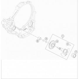 Arbre d'équilibrage ( KTM 350 EXC-F-Six-Days 2021 )