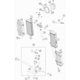 Refroidissement ( KTM 350 EXC-F-Wess 2021 )
