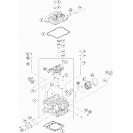 Culasse ( KTM 350 EXC-F-Wess 2021 )