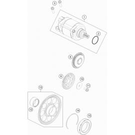 Démarreur électrique ( KTM 350 EXC-F-Wess 2021 )