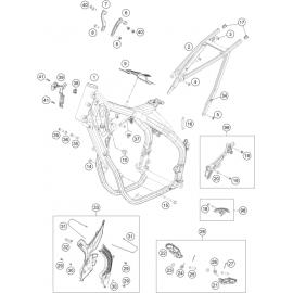 Cadre ( KTM 450 EXC-F 2021 )