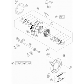 Roue arrière ( KTM 450 EXC-F 2021 )