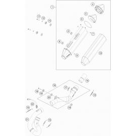 Echappement ( KTM 450 EXC-F-Six-Days 2021 )
