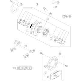 Roue arrière ( KTM 450 EXC-F-Six-Days 2021 )