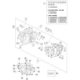 Carter moteur ( KTM 450 EXC-F-Six-Days 2021 )